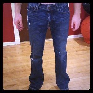 Abercrombie & Fitch Denim Distressed Jean 32x34